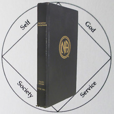New listing Narcotics Anonymous 1988 Fourth Edition 1st Printing Na World Services Wso