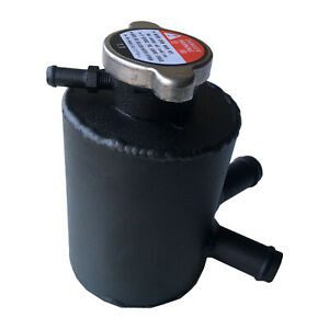 Aluminium Universal Coolant Expansion Header Water Tank Reservior Bottle Black