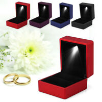 Jewelry Ring Earring Box Jewelry Gift Wedding Engagement With LED Light Display