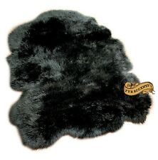 FUR ACCENTS BLack Mountain Sheepskin Area Rug All Sizes