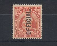 New Zealand KEVII 1910 1/- Official SG077 MLH J4975