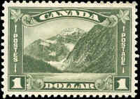 Mint NH Canada 1930 F-VF Scott #177 $1.00 KGV Arch/Leaf Stamp