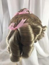 "10/11"" Curly Ponytails Blonde Doll Wig Reborn OOAK BJD Ceramic Repair BECKY"