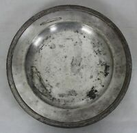 PLAT ROND CHRISTOFLE EN METAL ARGENTE  MESSAGERIES MARITIMES LICORNE POINCONS