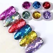 Holographische Diamant Laser Nagel Glitter Paillette Pailletten Maniküre DIY
