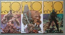 X-O MANOWAR #1-3 PRE-ORDER EDITION..VARIANT SET..MATT KINDT.VALIANT 1ST PRINT.NM
