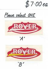 Rover - Scott Bonnar Vintage Mower Repro Side Cover Decals a