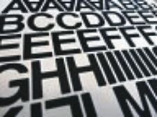 """2"""" (50mm) Vinile Autoadesivo lettere e numeri (NERO-oltre 125 pezzi)"""