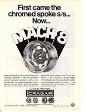 1973 CRAGAR MACH 8 MAG WHEEL ~ ORIGINAL PRINT AD