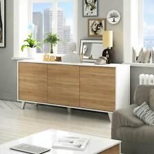 Credenza ERICA Gihome ® moderna bianco/legno rovere madia 3 ante salotto design