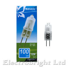 KOSNIC/EVEREADY G4 10W/20W DIMMABLE CLEAR HALOGEN CAPSULE BULBS LAMP WARM WHITE
