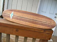 Vintage hobie super surfer wooden sidewalk skateboard surfboard 1960s multi lam