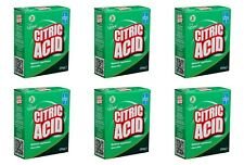 6 Acide Citrique 250 g Naturel Nettoyant Cuisine Appareils anticalcaire Remover ...