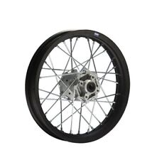 HMParts Pit Bike Dirt Bike Cross Stahl Felge 12 Typ 11 hinten schwarz - 12mm