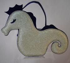 Gymboree Greek Isle Sea Horse Purse Blue Silver Sparkle Girls Kids Child