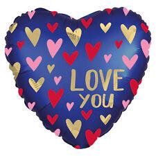 Bleu Marine Aluminium Hélium Cœurs Love You Ballon Romantique