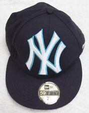 New York Yankees Blue White New Era 59Fifty Fitted 7 3/8 61.5CM Baseball Cap Men