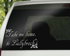 "Outlander Inspired Vinyl Car Decal ""Take me home to Lallybroch"""