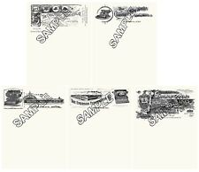 Underwood Crandall Caligraphic American Emerson Typewriter 5  Repro Letterheads.