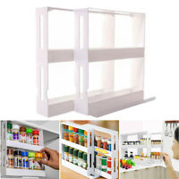 Multifunctional Rotating Spice Rack Organizer Display Kitchen Cabinet Cupboard