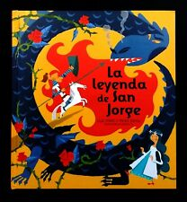 A Pop Up Book La Leyenda de San Jorge The Legend of St. George & the Dragon RARE