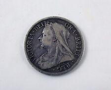 c 1899 Victoria Silver Half Crown