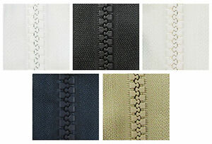 1 METRE CONTINUOUS ZIP & SLIDERS No.8 CHUNKY *5 COLOURS* ZIPPERS REPLACEMENT UK
