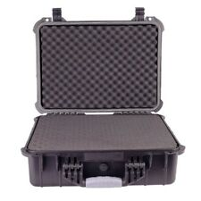 "16"" Weatherproof Hard Case for DSLR Camera Lens Gun w/ Pelican 1500 Style Foam"