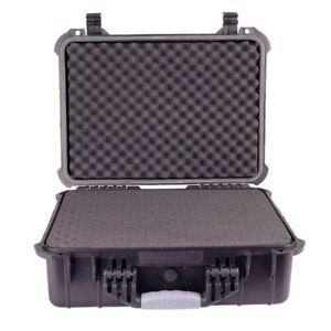 """16"""" Weatherproof Hard Case for DSLR Camera Lens Gun w/ Pelican 1500 Style Foam"""