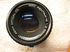 Smc Pentax M 50Mm F2.0 Lens Pk Mount W/Accessories