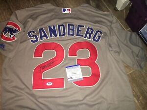 Ryne Sandberg HOFer Chicago Cubs Signed  Jersey PSA DNA