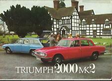 TRIUMPH 2000 MK2 SALOON & ESTATE SALES BROCHURE MARCH 1973