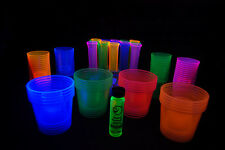 96 Piece Blacklight Reactive Shot Glass Assortment Package with FREE gift