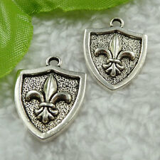 Free Ship 70 pieces tibet silver shield charms 22x16mm #1461