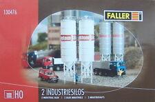 FALLER HO 130476 Two Industrial Silos # NEW ORIGINAL PACKAGING #