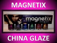 6 PACK!!! CHINA GLAZE MAGNETIX MAGNETIC NAIL POLISH GREEN BLUE GOLD RUST MAGENTA