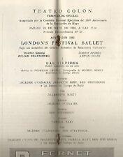 Argentina Programme Colon Teather Opera Ballet London's Festival