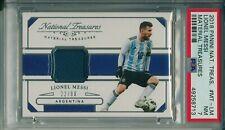 Lionel Messi 2018 Panini National Treasures Material Treasures /99 PSA 7   POP-1