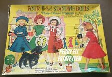 "1959 SAALFIELD ""FOUR HI-HEEL STANDING DOLLS"" #6128 4 PAPER DOLL STAY-ON CLOTHES"