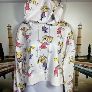 Nickelodeon Rugrats Angelica Printed Allover Hoodie Sweatshirt Size Youth Large