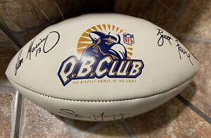 NFL WILSON FOOTBALL QB CLUB Elway Favre Young Marino Aikman Signatures. 1990s NM