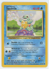 Squirtle 63/102 Near Mint Common Unlimited Base Set Pokemon Card 1999 Wotc