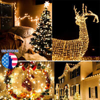 10/20/30M 100 200 LEDs Connectable LED Fairy String Lights Outdoor Waterproof US