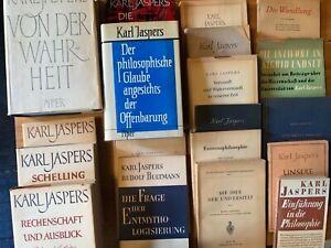 19 Bücher von und über Karl Jaspers - Von der Wahrheit, Schelling, Philosophie..