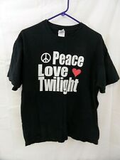 "Twilight t-shirt Large ""PEACE LOVE TWILIGHT"""