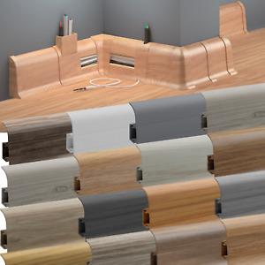 Fussleisten Sockelleisten Laminatleisten Fußleiste Kunststoff mit Kabelkanal