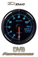 Defi Racer 60mm Car Exhaust Temperature Gauge - Blue - JDM Style Stepper Motor