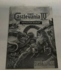 Super Castlevania IV Instruction Manual Booklet SNES Super Nintendo B & W