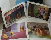 Disney Store Exclusive Lady & The Tramp Lithograph Set, 1998, Full Set, Preowned