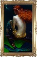"Hand painted Original Oil Painting art Mermaid nude girl on canvas 24""X36"""